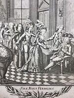 Louis 16 Rare Gravure ancienne d'Époque Révolution Française