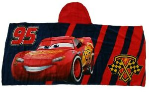 "Disney Car McQueen Race Ready""Hooded Beach Towel Brand New"