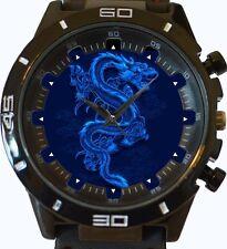 Chinesisch Blau Drachen Neu Gt Serie Sport Unisex Uhr