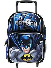 """BATMAN 16"""" inches Large Rolling Backpack Wheels backpack NEW Licensed Product"""
