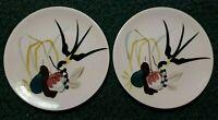 Vintage MCM Redwing Capistrano Textured Bird & Fruit Salad Plates.