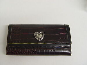 SILVER HEART CHECKBOOK WALLET