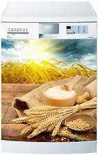 Sticker lave vaisselle déco cuisine électroménager farine de  blé 719 60x60cm