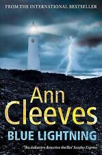 Blue Lightning, By Ann Cleeves,in Used but Acceptable condition
