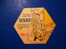 Beer Collectible Coaster ~*~ Draught HARP Lager Story #3 ~ Yeast to Lager Vessel