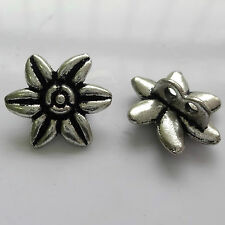 10 Tibetan Silver 14mm Flower Connector With 2 Holes