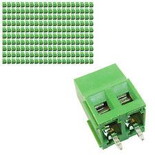 200 pcs 5mm Pitch 300V 16A 2P Poles PCB Screw Terminal Block Connector Green