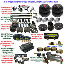 B Air Suspension -COMPLETE Cadillac COIL Frnt/Leafspring Rear Descrip below