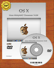 Latest Linux 64Bit MintyMAC Mac OSX Style Alternate to Windows XP Vista 7 DVD