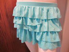 SWEET LOVE AQUA RUFFLE MINI SKIRT FROM HOT TOPIC SIZE LARGE,FREE SHIPPING.