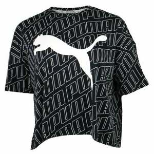 Puma Modern Sport Fashion Tee Womens  Top   T-Shirt Crew Neck - Black