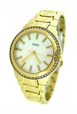GUESS MOTHER-OF-PEARL GOLD TONE LADIES WATCH U12658L1