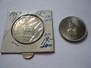 2 x Rhodesien: 2,6, 25 C, 1964 und 2,-, 20 C, 1964