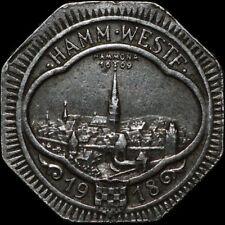 """NOTGELD: 50 Pfennig 1918, """"Stadtansicht"""". Funck 191.9A. STADT HAMM / WESTFALEN."""
