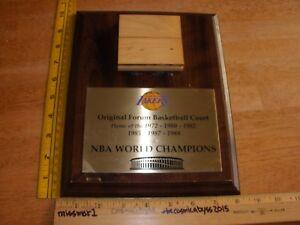 Los Angeles Lakers NBA Champions ORIGINAL Forum wood basketball court 1980s