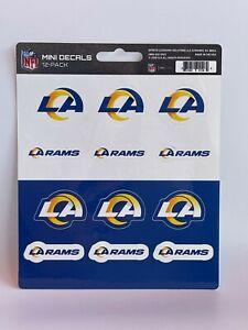 NFL Los Angeles Rams Decal Set Mini 12 Pack - sticker sheet