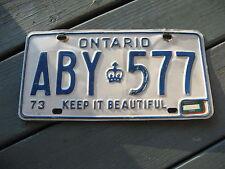 1973 73 1975 75  ONTARIO CANADA LICENSE PLATE NICE TAG ORIGINAL NICE