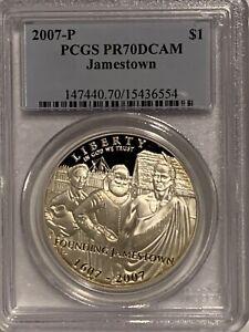 2007 P Jamestown Commemorative Silver Dollar PCGS PR70DCAM