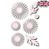 7 piece daisy flower leaf die set metal cutting die cutter UK seller fast post