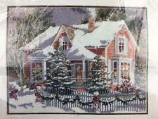 Bucilla Holiday House Needlepoint Picture Kit  Vintage 1994 NIP Christmas