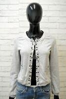 Felpa Cardigan Donna LIU JO Taglia S Maglione Pullover Maglia Sweater Women