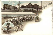 Scheveningen 1890s Multi-View Scheveningue Fine Litho Postcard