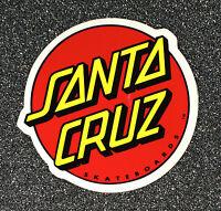 Santa Cruz Classic Dot Skateboard Sticker Red/Yellow - 6in si LARGE NHS