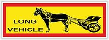 1x Horse Trotter Long Vehicle Warning Funny Sticker Carriage Truck Lorry Trailer