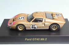 7062 Kyosho 1/64 Ford GT40 MKII 2 #5 Gold Near-Mint No-Box Tracking Number
