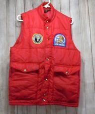 Vintage Swingster Red Puffer Vest Mens North American Hunting Club Bear Hunter