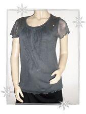 Magnifique T-shirt Fantaisie Gris Perles Lewinger Taille 1 - 36 / 38