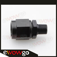 "Aluminum -4AN AN4 Female Swivel To Male 1/4"" NPT Straight Adapter Fitting Black"