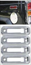 2003-2010 H2 SUV & SUT Hummer Chrome Billet Side Marker Light Bezels