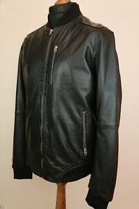 Replay Black Sheepskin Bomber jacket XL