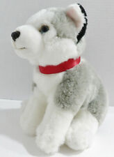 "10"" FAO Schwarz Plush Siberian Husky Dog Toy Animal C28"