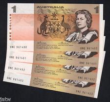 R-75. (1974) One Dollar - Phillips/Wheeler. AUSTRALIA Consecutive Run of 4. UNC