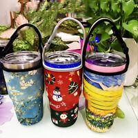 Water Bottle Cup Holder Sleeve Neoprene Insulated Vacuum Mug Cover Carrier 30oz