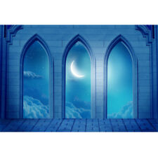 7x5ft Backdrop Eid Muslin Arch Building Moon Studio Shoot Photo Props Background