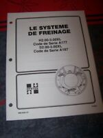 BH Manuel Hyster Systeme de freinage H2.00-3.00XL A177 S2.00-3.00XL serial A187