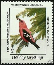 WHITE-WINGED CROSSBILL, NATIONAL WILDLIFE FEDERATION CINDERELLA 1987, MNH