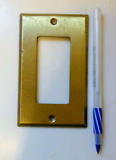 Traditional Single (SB99) Brass Cover Plate