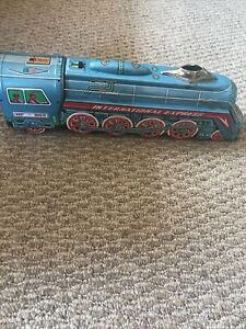 "Vintage International Express Train Locomotive Friction Tin Litho Toy 16"""