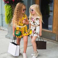 Newborn Infant Baby Girl Floral Bodysuit Romper Jumpsuit Clothes Outfits Sunsuit