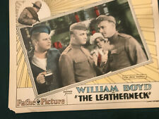 "The Leatherneck 1929 Pathe11x14"" silent lobby card William Boyd Robert Armstrong"
