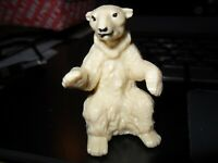 Britains Ltd Zoo Animal Polar Bear Sitting Part 1333 Shop Stock New Mint Vintage