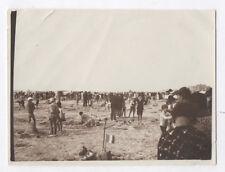 PHOTO BERCK SUR MER 1929 Bord de Plage Concours de sable Château Construction