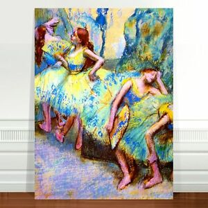 "Edgar Degas Ballet Dancers In the Wing ~ FINE ART CANVAS PRINT 8x10"""