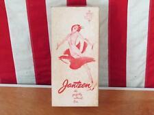 Vintage 1950s Jantzen Brassieres Jantzenaire Bra Orig.Box Pin-Up Art Swimwear Co