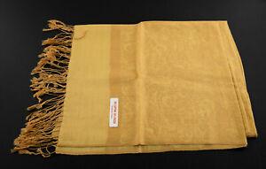 Echarpe Etole Chale Foulard 180x72 cm du Nepal Coton-viscose Beige steppe  9183