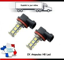 2 AMPOULES 18 LED SMD H8 ANTI BROUILLARD FEUX TUNING 6000K VOLKSWAGEN, AUDI